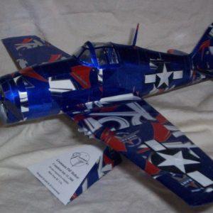 Aluminum can airplane Hellcat