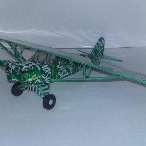 soda can airplane Piper Cub