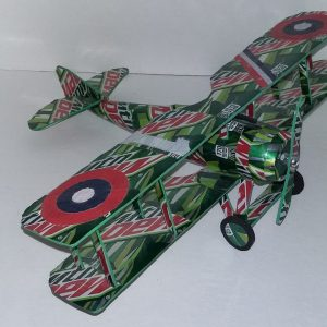 Aluminum can airplane SPAD