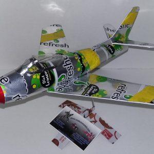Soda Can airplane F-86