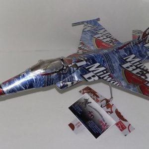 Aluminum can airplane F-16 Falcon