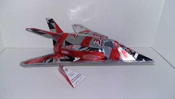 Aluminum can airplane F-117 Nighthawk