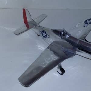 Aluminum can airplane P-51D Mustang