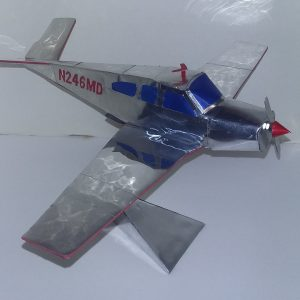 Aluminum can airplane Beechcraft Bonanza