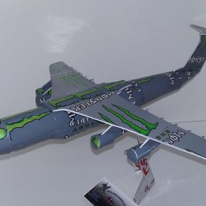 Aluminum can airplane C-5 Galaxy