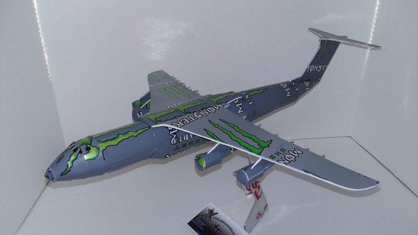 Aluminum can airplane C-5 Galaxy