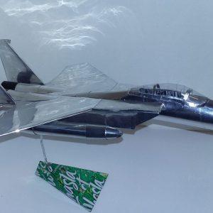 Aluminum can airplane F-15C Eagle