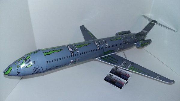 Aluminum can airplane Douglas DC-9