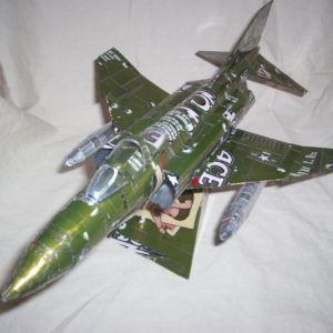 soda can airplane f-4