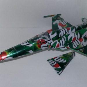 soda can model F-5E Tiger II