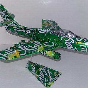 Aluminum can airplane F-84 Thunderstreak