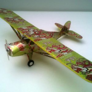 Aluminum can airplane Aeronica Grasshopper