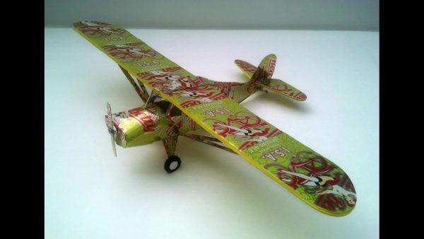 Aluminum can airplane Aeronica Grasshopper