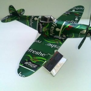 Aluminum can airplane Spitfire