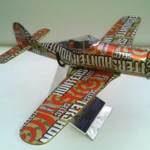 Aluminum can airplane FW190