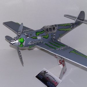 Aluminum can airplane ME-Bf109E plans