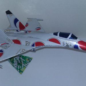 Aluminum can airplane Shenyang J-11