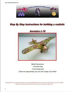 Aluminum can airplane Aeronica Grasshopper plans