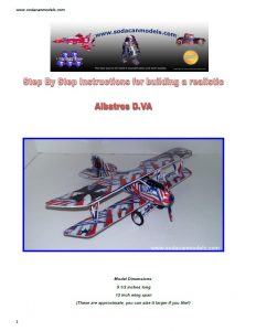 Aluminum can airplane Albatros DVa plans