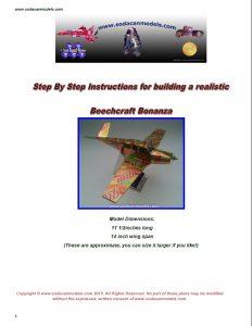 Aluminum can airplane Beechcraft Bonanza plans