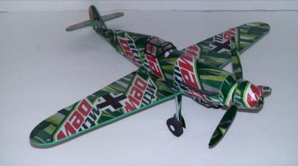 Aluminum can airplanes ME-BF109G plans