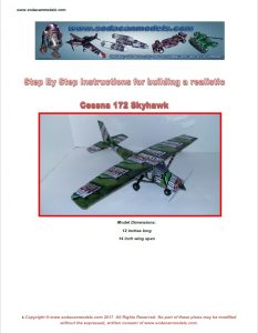 Aluminum can airplane Cessna 172 plans