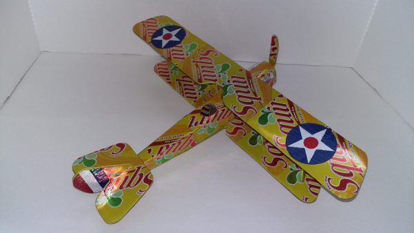 Aluminum can plane Curtiss Jenny