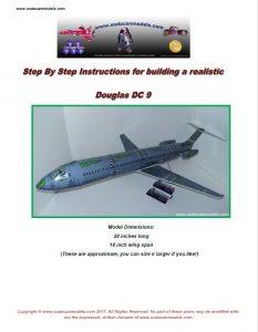 Soda Can airplane Douglas DC-9 plans