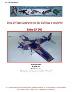 Aluminum can airplane Extra EA-300 plans