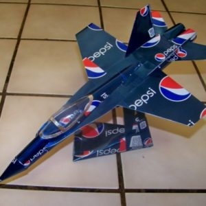 soda can airplane F-18