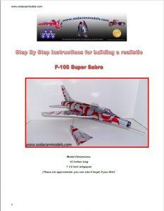 Aluminum can airplane F-100 Super Sabre plans