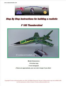 Aluminum can airplane F-105 Thunderchief plans