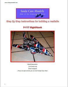 Aluminum can airplane F-117 Nighthawk plans