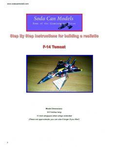 Aluminum can airplane F-14 Tomcat plans