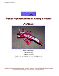 Coke can airplane F-15 Eagle plans