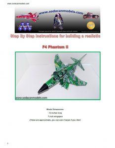 Aluminum can airplane Phantom II plans