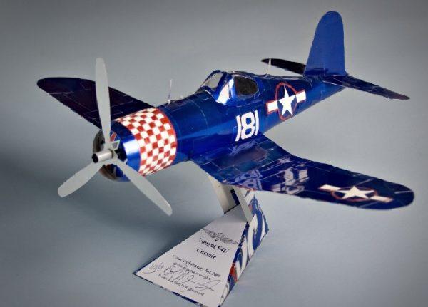 soda can airplane corsair