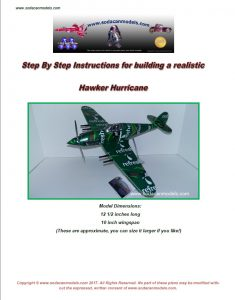 Aluminum can airplane Hawker Hurricane plans