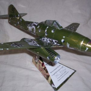 Aluminum can airplane Me-262 plans