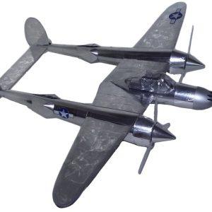 Aluminum can airplane P-38 Lightning