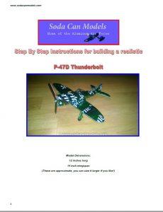 Aluminum Can airplane P-47 Thunderbolt