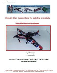 Aluminum can airplane P-40B plans