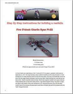 Coke Can airplane Ryan PT-22 plans