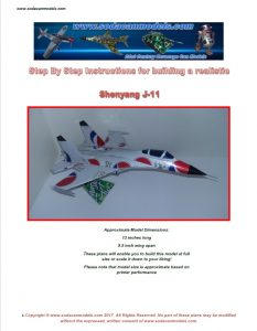 Aluminum can airplane Shenyang J-11 plans
