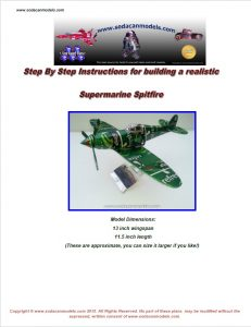 Aluminum can airplane Spitfire plans