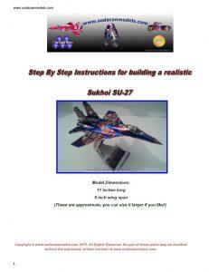 Aluminum can airplane SU-27 plans