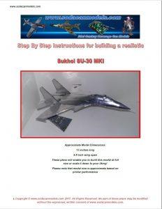 Coke Can airplane pattern pdf SU-30MKI