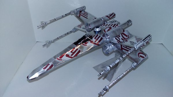 Soda can airplane X-wing