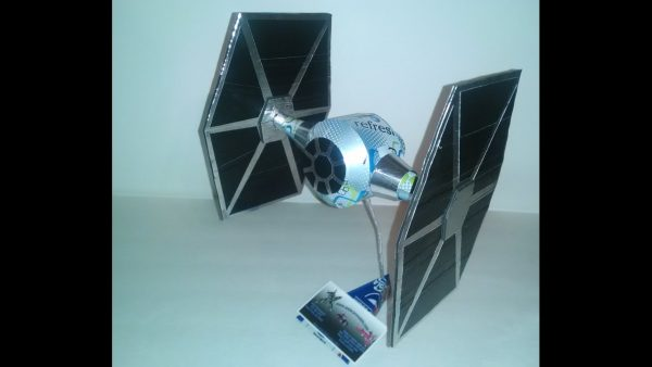soda can airplane TIE fighter