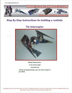 soda can airplane Tie interceptor